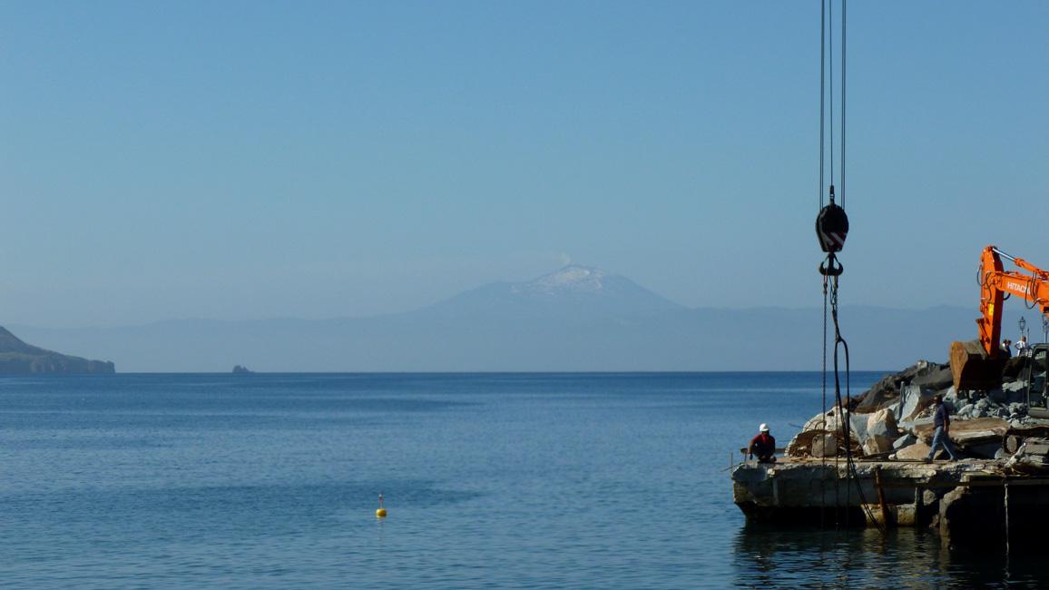 5 W oddali Etna