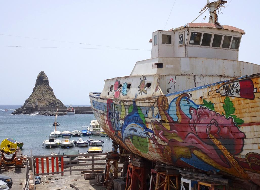 Malowana łódź