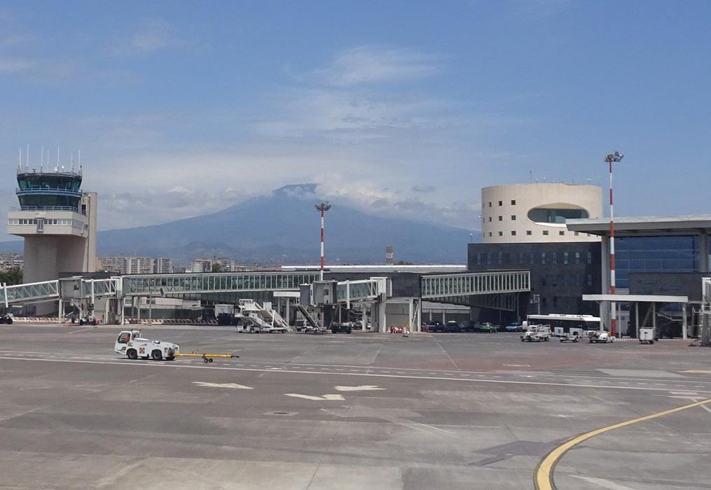 Etna z samolotu
