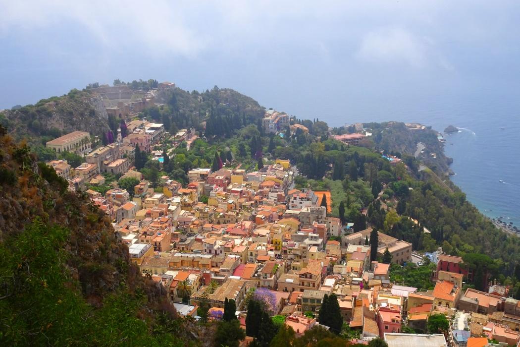 Taormina w dole